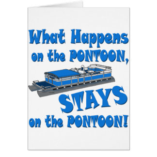 On the pontoon greeting card