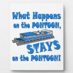 On the pontoon display plaques