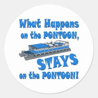 On the pontoon round sticker