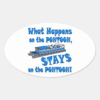 On the pontoon oval stickers