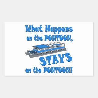 On the pontoon stickers