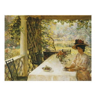 On the Porch, William Chadwick Poster
