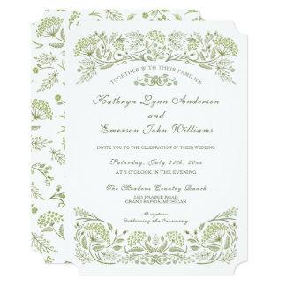 On the Prairie Wedding Invitation