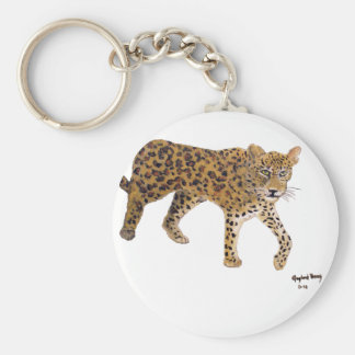 """""""On The Prowl"""" Round Keychain"""