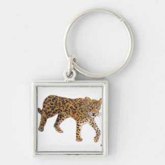 """""""On The Prowl"""" Square Keychain"""