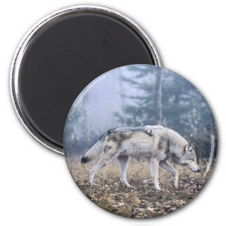 On the Prowl Timber Wolf 2 Inch Round Magnet