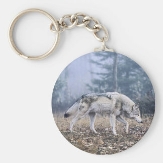 On the Prowl Timber Wolf Keychain