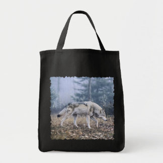 On the Prowl Timber Wolf Tote Bag