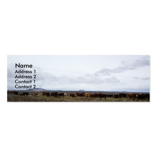 On the Range Profile Cards Business Card Templates