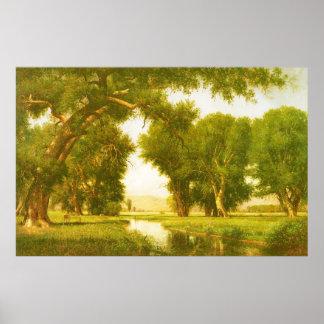 On the River, by Thomas Worthington Whittredge Poster