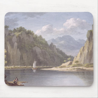 On the River Elbe, near Lowositz in Saxony, plate Mouse Pad