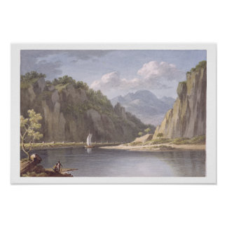 On the River Elbe, near Lowositz in Saxony, plate Poster