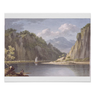 On the River Elbe, near Lowositz in Saxony, plate Print