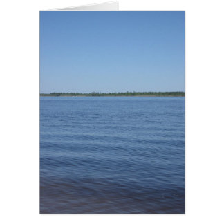 """On the River"" greeting card - Customizable"