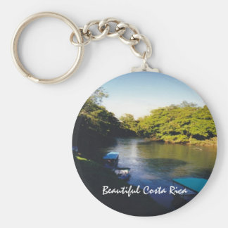 On the River in Beautiful Costa Rica Basic Round Button Keychain