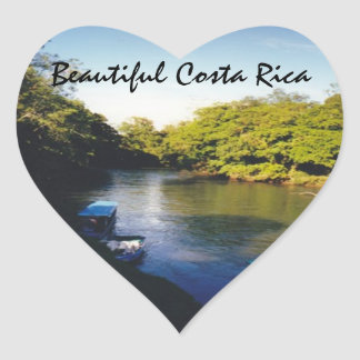 On the River in Beautiful Costa Rica Heart Sticker