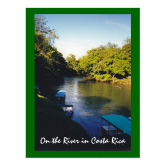 On the River in Beautiful Costa Rica Postcard