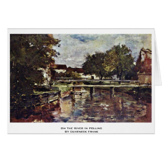 On The River In Polling By Duveneck Frank Greeting Cards