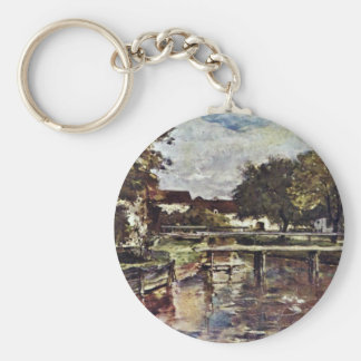 On The River In Polling By Duveneck Frank Keychains