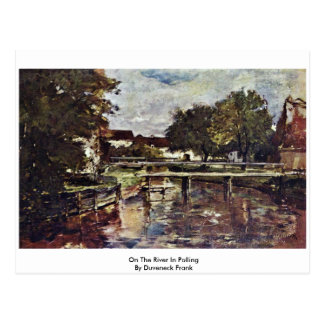 On The River In Polling By Duveneck Frank Post Card
