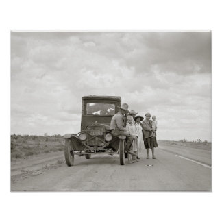 On The Road, 1937. Vintage Photo Poster