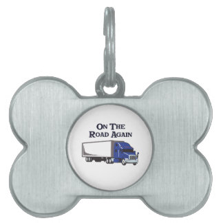 ON THE ROAD AGAIN PET ID TAG
