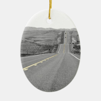 On the Road : Road Trip : Highway Travels Ceramic Ornament