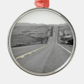 On the Road : Road Trip : Highway Travels Metal Ornament