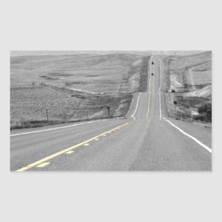 On the Road : Road Trip : Highway Travels Rectangular Sticker