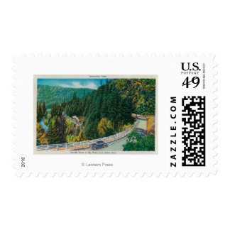 On the Road to Big Trees from Santa Cruz Postage