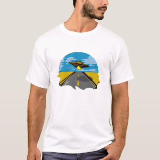 on the road with a ufo T-Shirt