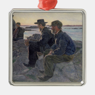 On the Rocks at Fiskebackskil, 1905-6 Metal Ornament