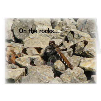 On the rocks... card