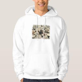 On the rocks... hooded sweatshirt