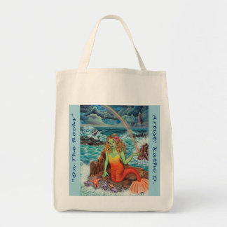 """On The Rocks"" Kathi Dugan Grocery Tote"
