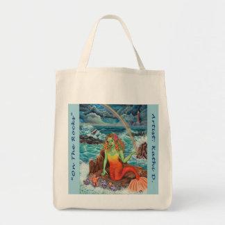 """On The Rocks"" Kathi Dugan Grocery Tote Tote Bag"