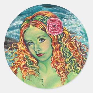 """""""On The Rocks"""" Kathi Dugan Large Sticker"""
