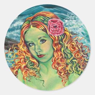 """On The Rocks"" Kathi Dugan Small Sticker"