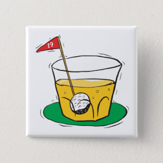 On The Rocks Pinback Button