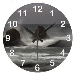 On The Rocks - White Point Beach, NS Wall Clocks