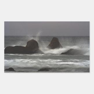 On The Rocks - White Point Beach, NS Rectangular Sticker