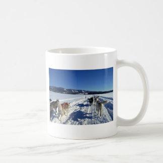 On the run classic white coffee mug