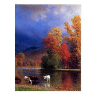On the Saco - Albert  Bierstadt Postcard