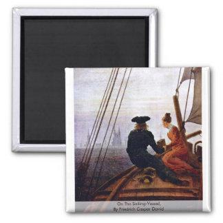 On The Sailing-Vessel,  By Friedrich Caspar David Magnet