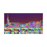 On the Saone River Lyon France in vivid color Stretched Canvas Prints