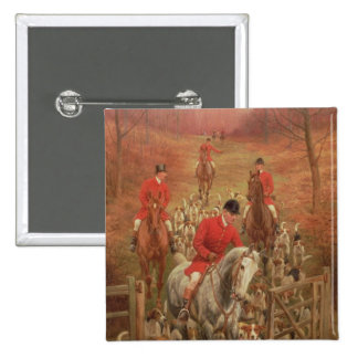 On the Scent, 1906 2 Inch Square Button