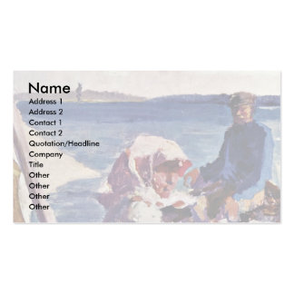 On The Sea By Edelfelt Albert Gustav Aristides Double-Sided Standard Business Cards (Pack Of 100)