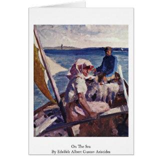 On The Sea By Edelfelt Albert Gustav Aristides Greeting Cards
