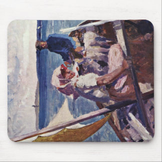 On The Sea By Edelfelt Albert Gustav Aristides Mouse Pads