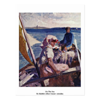 On The Sea By Edelfelt Albert Gustav Aristides Post Card